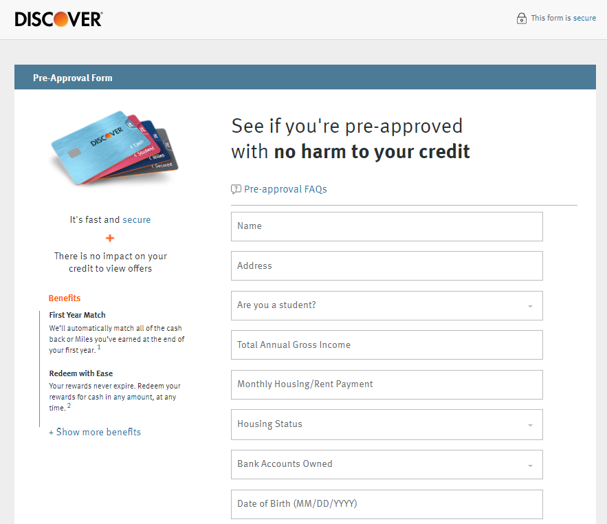 Discover Credit Card Accept